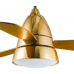 Ventilatore da soffitto, Gold Tulyp, 107cm, dorato,  con luce, design moderno, Lba Home