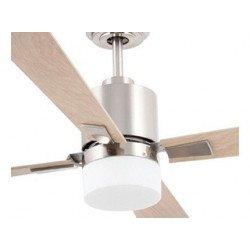 Ventilatore da soffitto, Palk, 132cm, DC, acciaio/legno di acero, con luce, iper silenzioso, Faro.