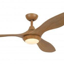 Ventilatore da soffitto, Hilux Bois, 132cm, DC, legno, con luce e telecomando, destratificazione, Lba Home
