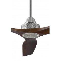Ventilatore da soffitto, Soft 60 BS-DW, 152cm, cromo/noce scuro, DC, iper silenzioso, + asta 60cm, Klassfan