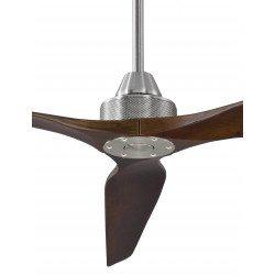 Ventilatore da soffitto, Soft 70, 178cm, cromo/noce scuro , DC, iper silenzioso, + asta 60cm,Klassfan