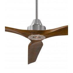 Ventilatore da soffitto, Soft 70, 178cm, cromo/noce chiaro , DC, iper silenzioso, + asta 60cm, Klassfan