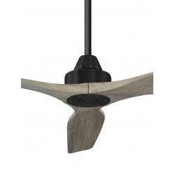 Ventilatore da soffitto, Soft 60 BK-AOK, 152cm, nero/rovere chiaro, DC, iper silenzioso, + asta 60cm, Klassfan