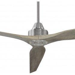 ventilatore da soffitto, Soft Bs-Aok 70, 178cm, cromo/rovere chiaro , DC, iper silenzioso, + asta prolunga 60cm,Klassfan