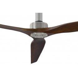 Ventilatore da soffitto, Softy 70 BS-SW, 178cm, cromo/noce scuro, DC, iper silenzioso, + asta 60cm,Klassfan