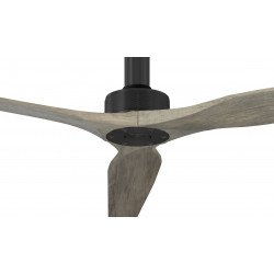 Ventilatore da soffitto, Softy BK-Aok 70, 178cm, nero/rovere chiaro , DC, iper silenzioso, + asta60cm,Klassfan