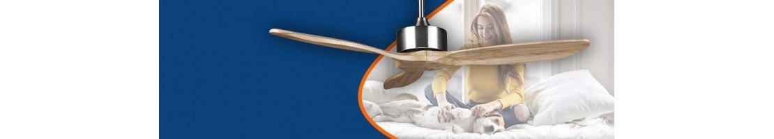 Ventilatori da soffitto senza luce di tutti i tipi: moderni, design, classici, industriali, etc.