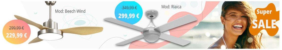 Ventilatori da soffitto con luce-per superfici dai 16 ai 20 m²