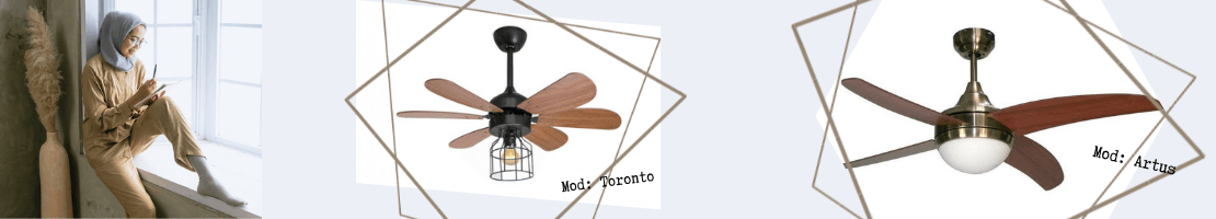 Ventilatori da soffitto classici. Modelli di ultima generazione con un'anima antica- Fan Boutique.