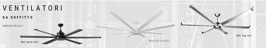 Ventilatori da soffitto industriali.  Efficienza e confort in un'unico modello!