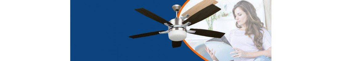 Ventilatori da soffitto con luce economici ( -150 €)- Fan Boutique